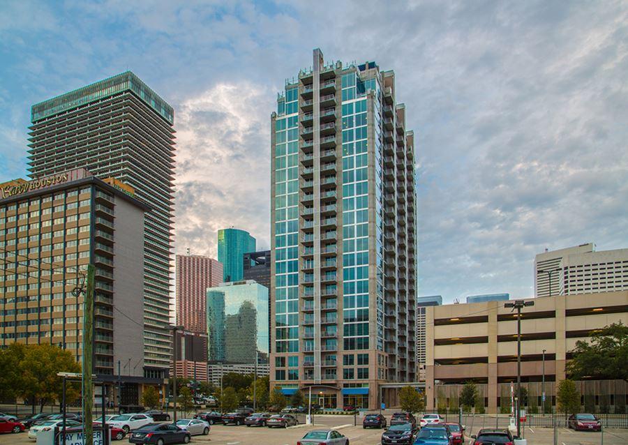 Apartment Building Main Street Downtown Houston