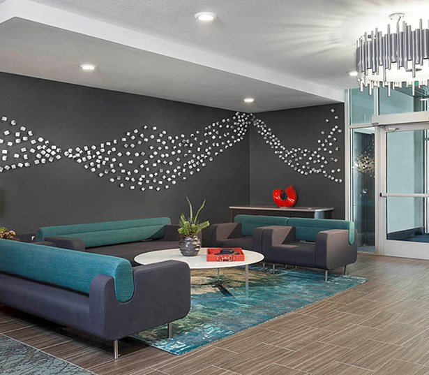 Studio LoHi Modern lobby entry Denver CO - Apartments in the Highlands