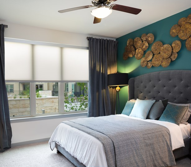 Addison at Kramer Station apartments for rent - master bedrooms large windows solar shades