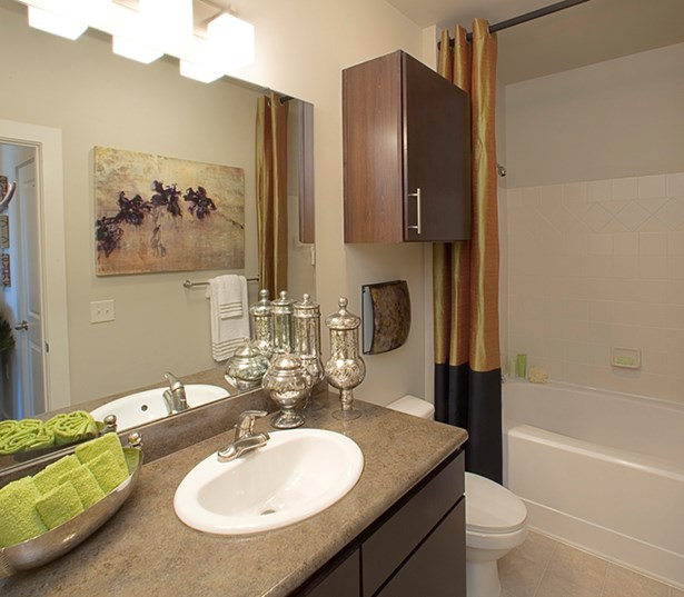 Gramercy Square At Ayrsley Modern bathrooms oversized soaking tubs Charlotte NC - Berewick