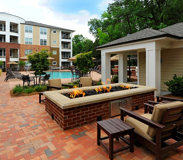 Gramercy Square At Ayrsley Pool side fire pit lounge Charlotte NC