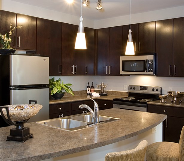 Gramercy Square At Ayrsley Modern Kitchen stainless steel appliances Charlotte NC - Berewick