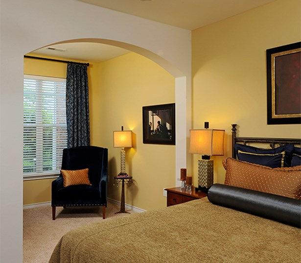 Promenade Park Master bedrooms with ceiling fans Charlotte NC - Blakeney