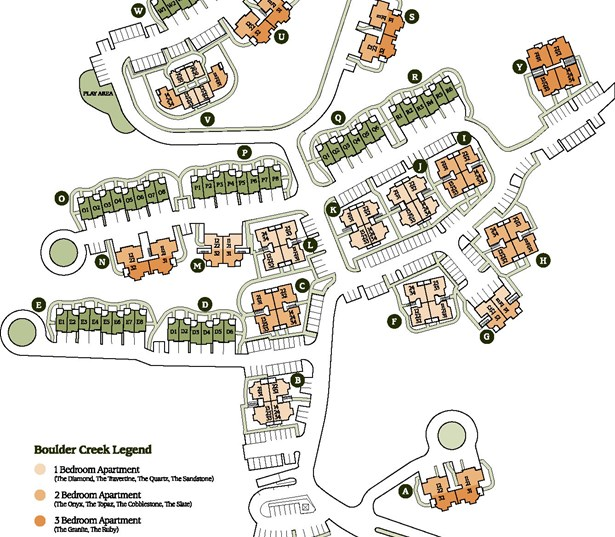 Issaquah Highlands apartments in Sammamish, WA - Boulder Creek Community Site Map