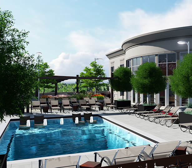 The Encore South Park rooftop pool and lounge Charlotte NC - Myers Park