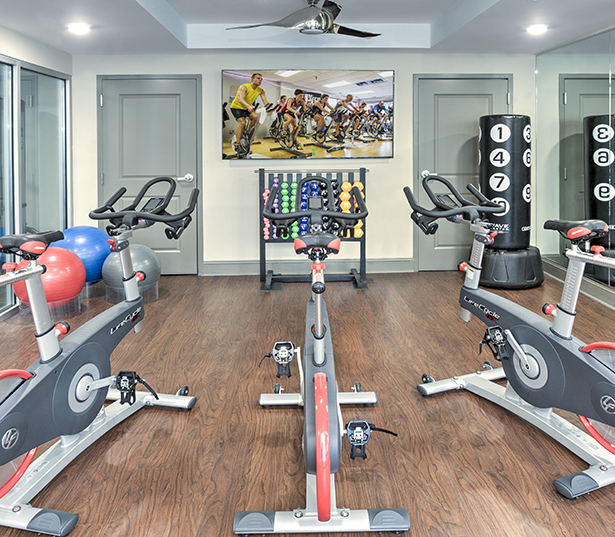 The Encore South Park fitness center + virtual trainer and spin bikes Charlotte NC - Myers Park