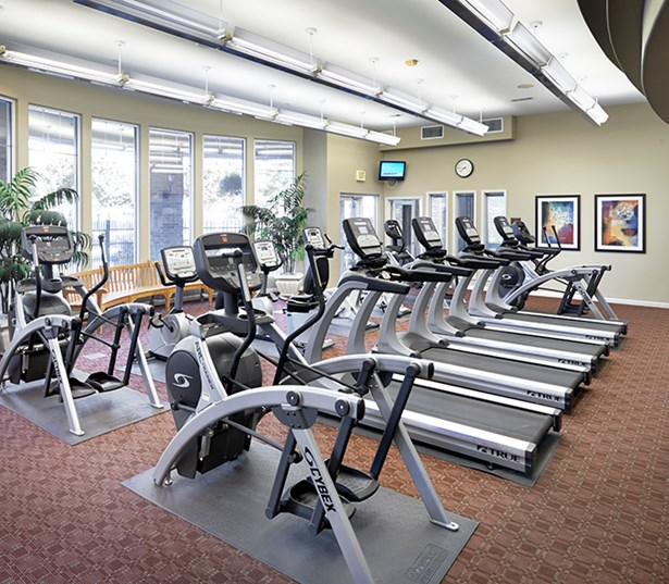 Apratments near Western Union for rent - The Meadows At Meridian Fully equipped fitness center