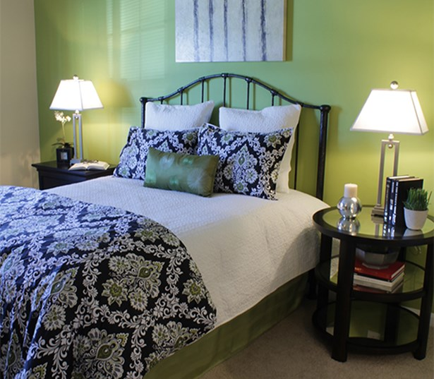 Gwinette Place apartments in Duluth - Menlo Creek Large master bedroom fits king size bed
