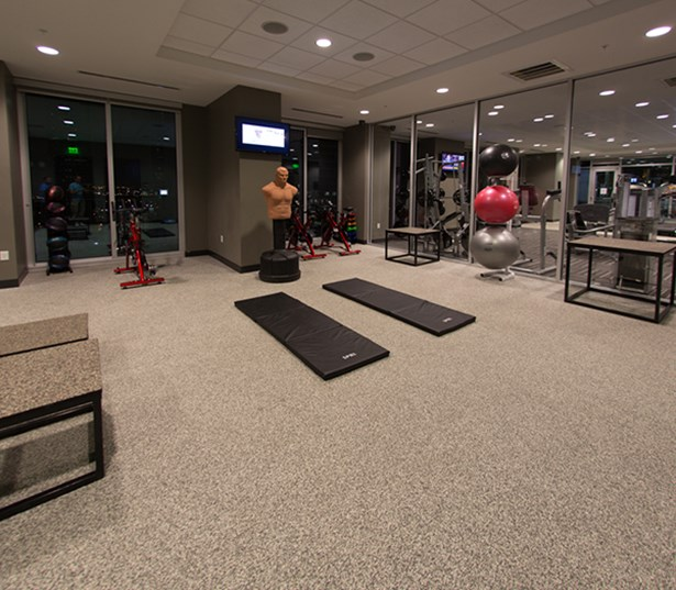 SkyHouse Houston Separate yoga and spin room - Houston Medical Center TX