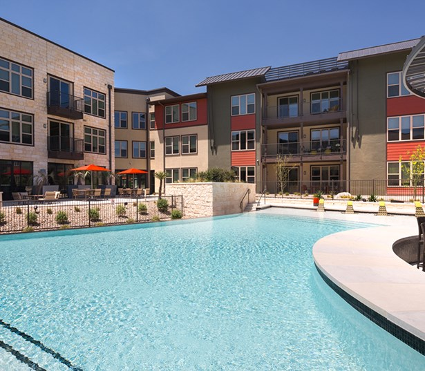 Austin apartments in The Domain - Addison at Kramer Station Resort Style Swimming