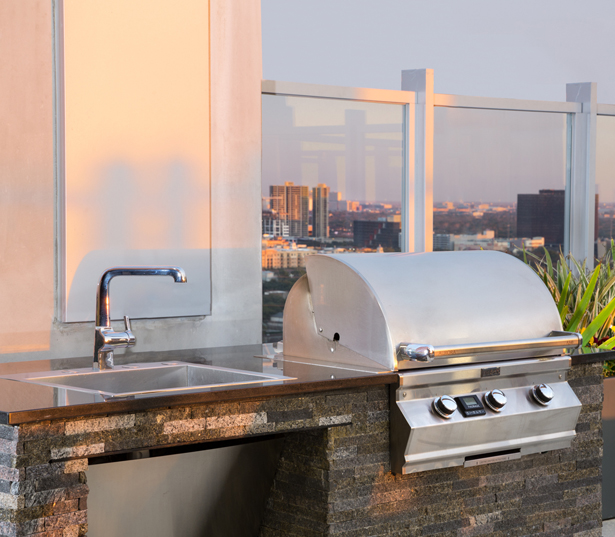 SkyHouse River Oaks BBQ Grills Houston TX - River Oaks District Luxury Apartments