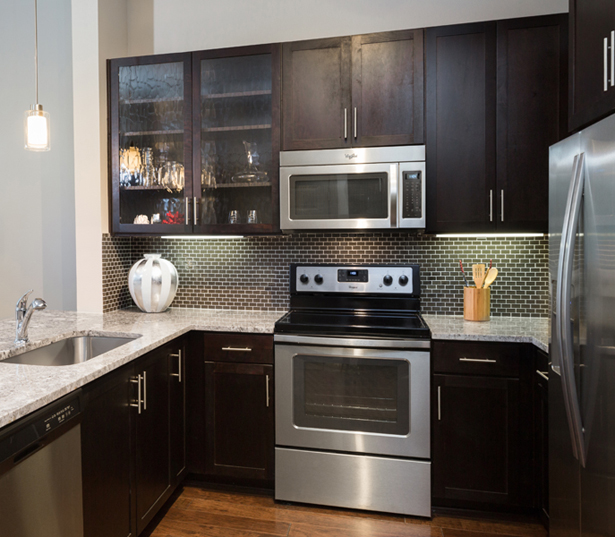 Strata Apartments - Stainless steel appliances - M Streets Apartments in Dallas, TX