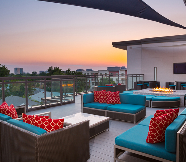 Strata Apartments - Rooftop terrace - Lower Greenville Apartments