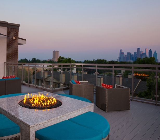 Strata Apartments -  rooftop terrace views - M Streets Apartment Rentals