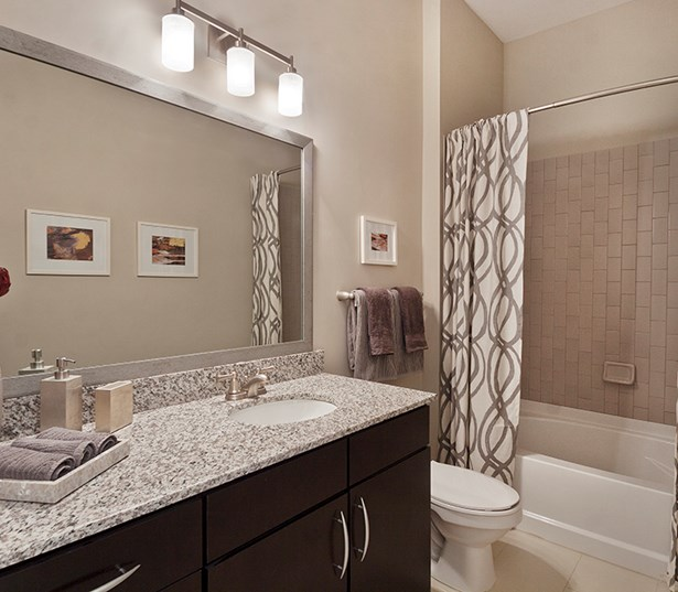 Silos South End Modern bathroom subway tile and relaxing soaking tubs Charlotte NC - Dilworth