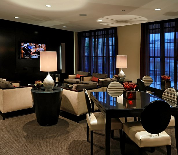 The Reserve At Tysons Corner Resident lounge TV's and free Wi-fi Vienna VA - Mosaic District