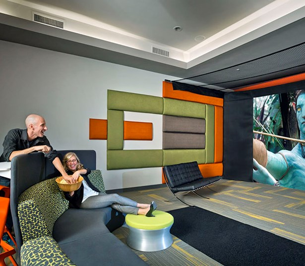 Luxury apartments in north Scottsdale - Avion on Legacy Private screening room