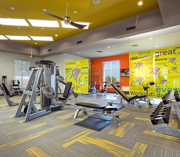 Avion on Legacy apartments near Thompson Peak Health Care - Fully equipped fitness center