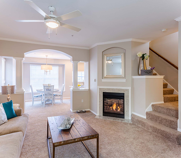 Issaquah Plateau apartments for rent in Sammamish - Boulder Creek has Gas fireplaces in every home