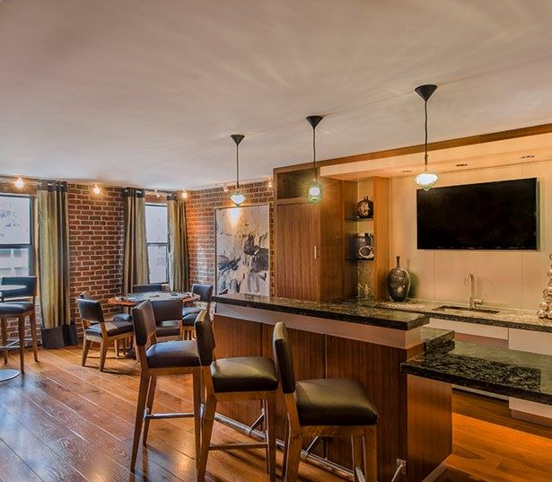 14W Clubroom with kitchen library lounge and poker tables Washington DC - U Street Corridor