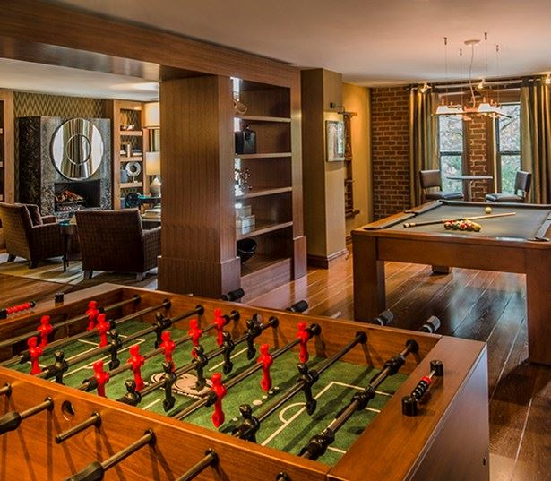 14W Game room with billiards and foosball Washington DC - 14th Street Corridor