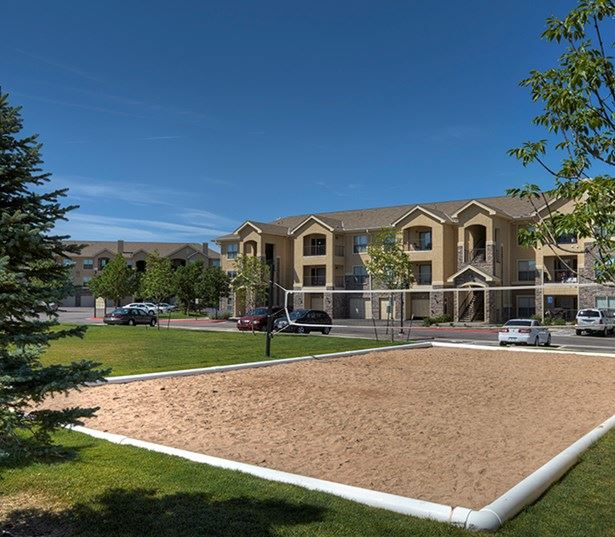 Dove Valley apartments for rent in Aurora - Coyote Ranch Outdoor sand volleyball court