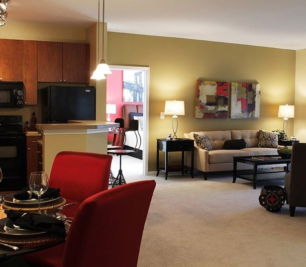 Menlo Creek apartments for rent in Suwanee - Spacious living room model interior