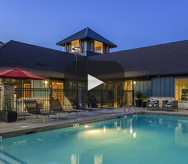 Beaverton apartments near Max Blue Line and Nike - Victory Flats swimming pool video