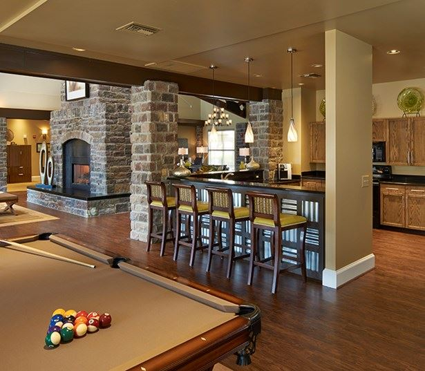 Dove Valley apartments for rent in Aurora - Coyote Ranch Clubhouse with billiards table