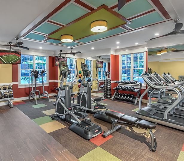 Suwanee apartments near Oracle - Artisan Station Apartments fitness center