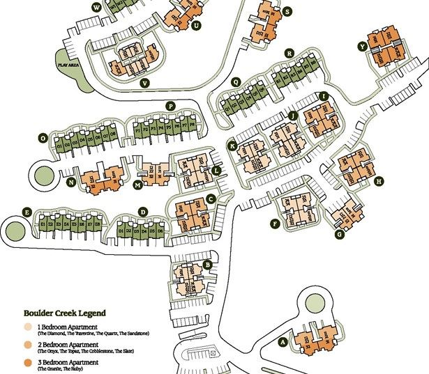 Sammamish WA rentals - Boulder Creek Community Site Map