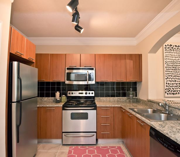 Gramercy at Buckhead apartments near piedmont hospital - chef kitchen with granite countertops