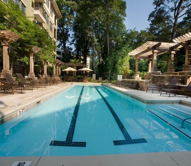Apartments for rent in Chastain Park, GA - Gramercy at Buckhead Large 3 lane lap pool