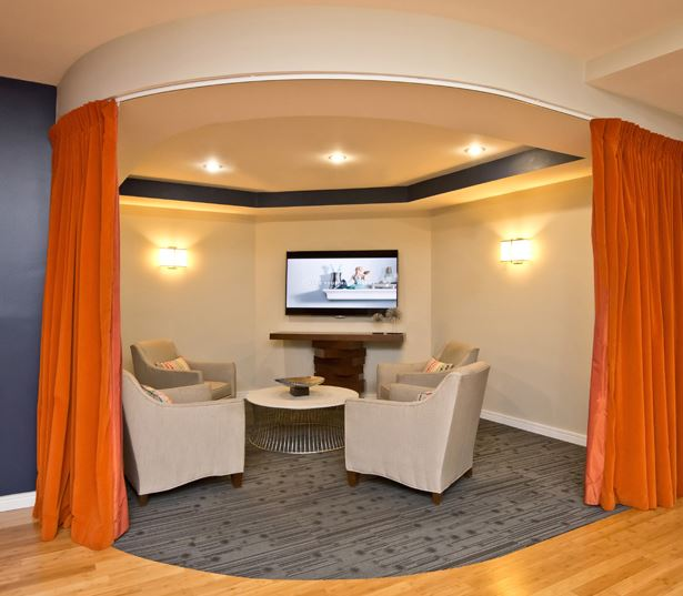 one bedroom apartments in buckhead - Gramercy at Buckhead media lounge