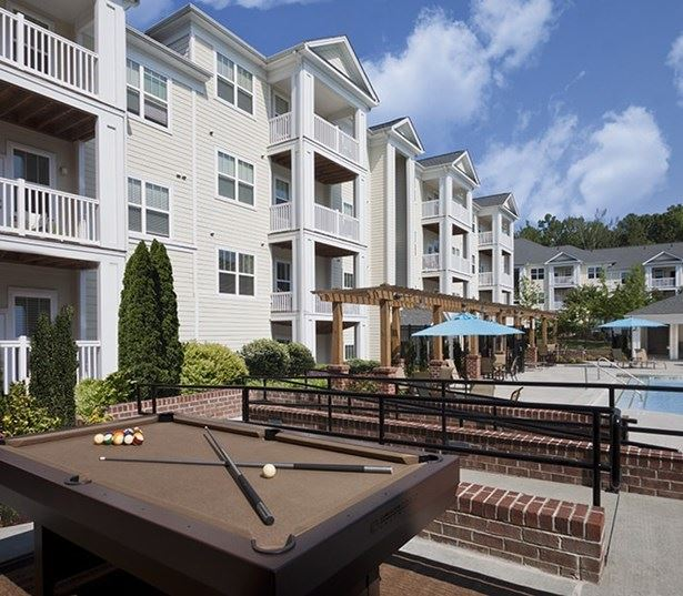 Southpoint Apartments in Cary near Cisco - Chancery Village Outdoor billiards table by the pool