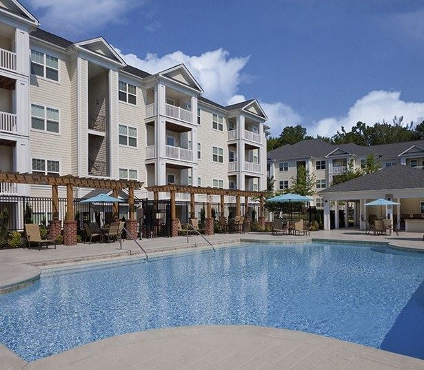 Chancery Village apartments in Parkside - Saltwater swimming pool with outdoor TV and cabana
