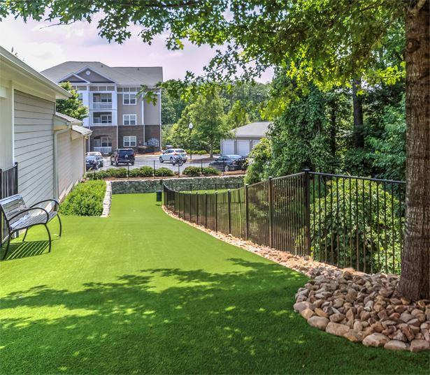 Chancery Village apartments in RTP near Credit Suisse - Pet friendly community with benches