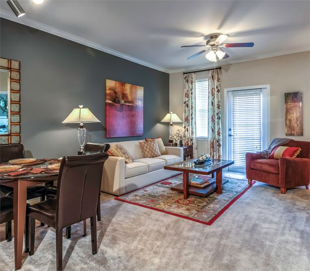Cary, NC Apartments in RTP near Credit Suisse - Chancery Village Living Room Interior