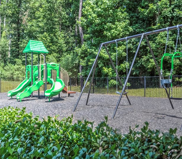 Chancery Village apartments for rent in RTP near NetAp - On-site playground with swing set
