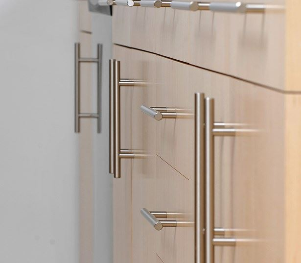 Zoso Flats - Chromed fixtures and hardware - Clarendon Apartments in Arlington, VA