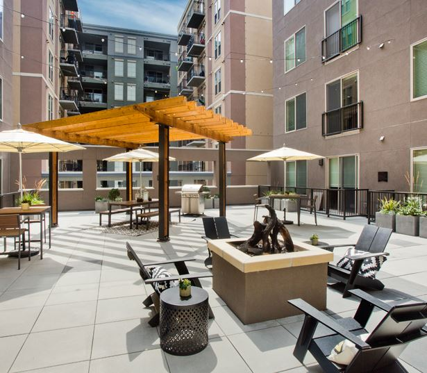 The Battery on Blake Street courtyard - Apartments in Ballpark Neighborhood - Denver, CO