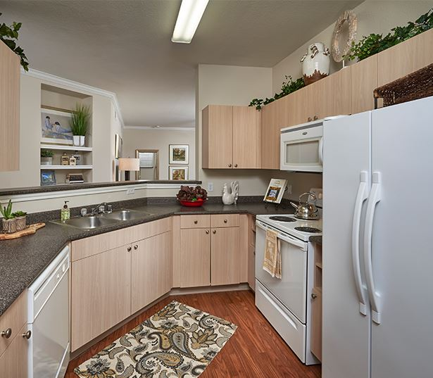 Aurora apartments for rent near Arapahoe Crossing - Coyote Ranch Modern Kitchen