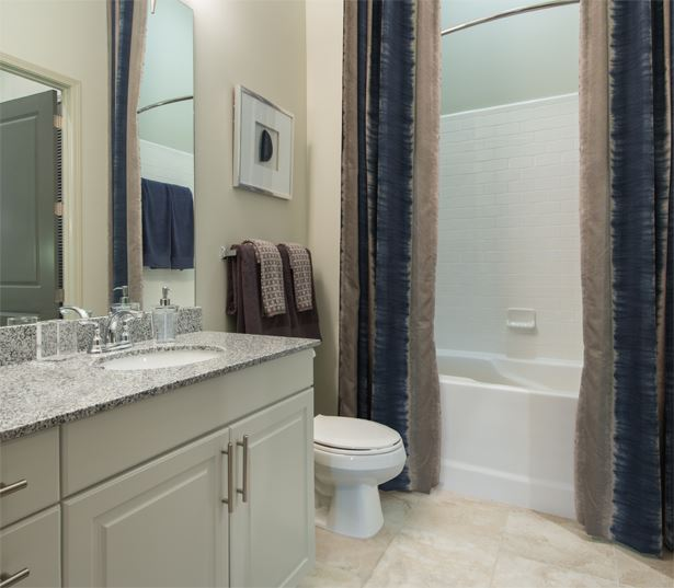 2700 Charlotte Baths with granite countertops and soaking tubs Nashville TN - West End