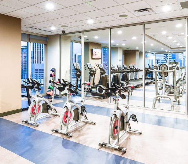 Denver apartments for rent in the Central Business District - SkyHouse Denver fitness studio