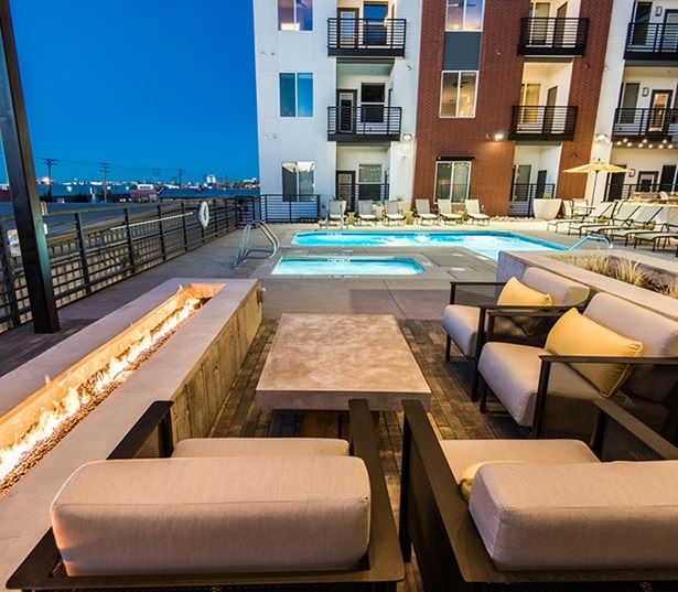 Hartley Flats Rooftop swimming pool with spa Denver CO - Downtown