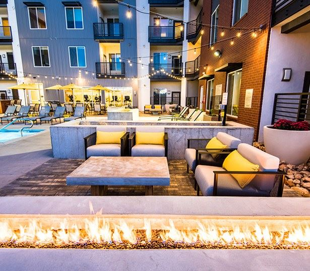 Hartley Flats Rooftop Lounge with Fire Pit Denver CO - RiNo