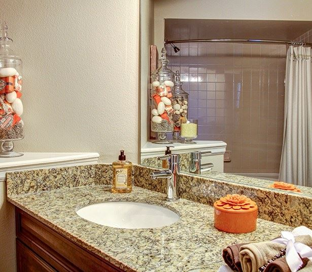 Carriage Place Modern Kitchens with granite countertops and upgraded lighting Denver CO - Englewood