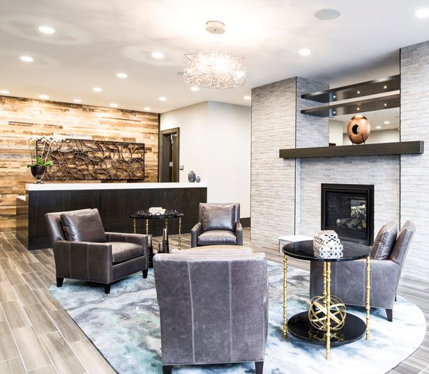 Central Business District apartments for rent in Denver - SkyHouse Denver Lobby