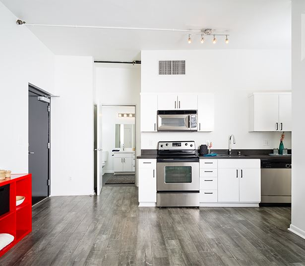 Historic Core apartments for rent in DTLA - Lofts at Security Building upgraded homes