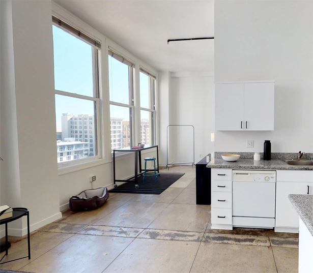 FIDM apartments for rent near Gallery Row - Lofts at Security Building windows and flooring
